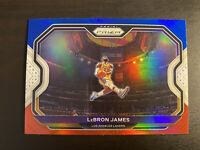 2020-21 Panini Prizm Lebron James Red White Blue Prizm Kobe Tribute Dunk Card #1