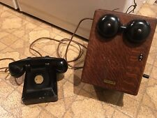 Antique Western Electric Telephone Magneto Ringer Box  - Working w/desk phone