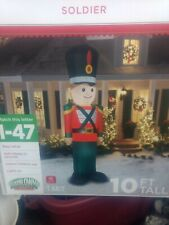 Airblown Inflatable - Toy Tin Soldier Nutcracker - Lighted - Giant 10ft Tall