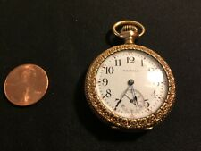 Ladies  WALTHAM 15J Pocket Watch  GOLD FILLED CASE for repair