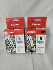 Lot of 2 Canon BCI-6 Photo Cyan Ink Cartridge 4709A003 Genuine New