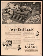 1948 ROYAL Portable Typewriter - Christmas - Tree - Gift - Holiday VINTAGE AD