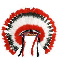 Indianerhaarschmuck Kopfschmuck Häuptling Indianer Federn Federschmuck Karneval