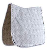 "Roma Ecole Flower Diamond Quilt Dressage Saddle Pad Girth Guard 40"" x 23"""