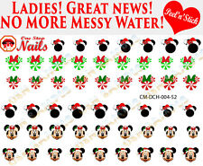 Christmas Disney with Mickey Clear Vinyl PEEL and STICK Nail Decals
