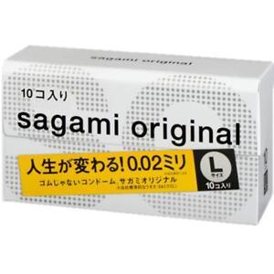 Sagami Original 002 L size condom 10 pieces Ultra Thin 0.02mm Non Latex Japan