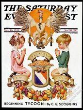 J.C. Leyendecker Thanksgiving art Saturday Evening Post cover November 26 1932