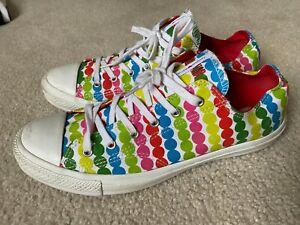 Converse All Star Chuck Taylor Marimekko Polka Dots Low Tops Rainbow Women's 10