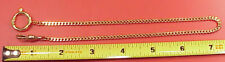 Vintage Bright Gold PLated Fine Curb Link Mans Pocket  Watch Chain 14  inch