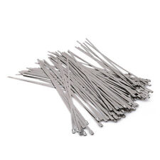 Stainless Steel Exhaust Wrap Coated Locking Wire Cable Zip Ties Wrap Metal WE