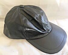 Vintage Leather Baseball Biker Harley Motorcycle Trucker Cap Hat Adjustable