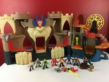 Imaginext Lions Den Electronic Castle & Wizard Tower Playsets + Figures Extras