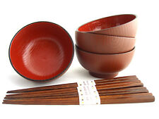 Miso Suppenschalen Set MOKUME Essstäbchen Japan Suppenschüssel Ø 11,6 H. 6 cm
