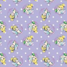 Disney Fabric - Tinkerbell Toss - Lilac - 100% Cotton - Multiple Sizes