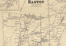 Easton Aspetuck CT 1867  Map with Homeowners Names Shown   Genealogy Family Tree