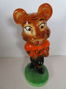 1940 Massillon Ohio Tigers Mascot Stanford Pottery Bank Football *REPAIRED*