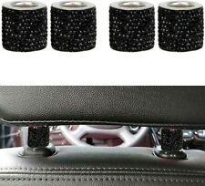 💎4Pcs Bling Diamond Car Seat Headrest Collar Rhinestone Car Decor Gifts Blk 💎