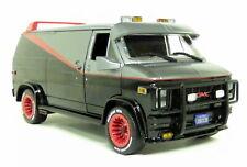 Greenlight 1/24 Scale - 1983 GMC Vandura The A-Team Black Red Diecast Car