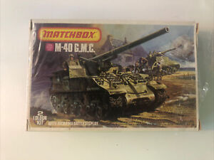 Matchbox model vintage Kit. M-40 G.M.C. with diorama Vintage c1976 WWII Tank