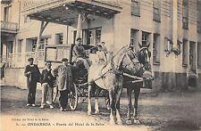 CPA ESPAGNE ONDARROA FRENTE DEL HOTEL DE LA BAHIA (cpa rare DILIGENCE