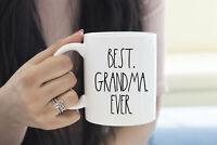 Rae Dunn Gift For Grandma Best Grandma Mug Coffee Cup Best Grandma Ever Mug