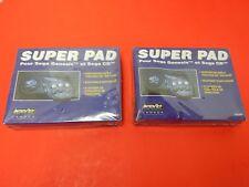 2 Sega Genesis & Sega CD Interact 6 Button Super pad