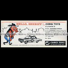 CORGI TOYS 1962 OLDSMOBILE 'Sheriff' Super 88 (237) - Pub / Publicité / Ad #E58