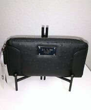 "NWT G by Guess 'Watch Me SLG' Wallet in Black - Zip Around - Textured - 7.5""x4"""