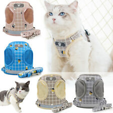 More details for small pet cat dog puppy harness lead reflective breathable soft mesh vest cute