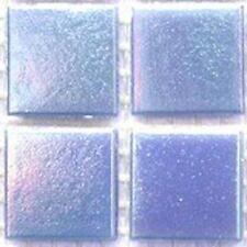75 vitreux irisée tuiles de mosaïque 20mm-bleu opale