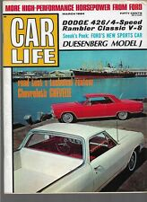 CAR LIFE MAGAZINE March 1964-New 1964 MUSTANG SNEAK PEEK, Dodge Polara, Chevelle
