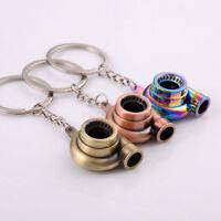 Creative Turbo Metal Keyfob Car Keyring Keychain Key Chain Ring Gift x 1