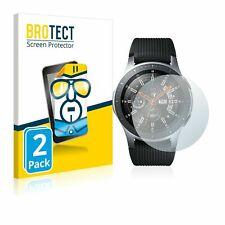 Samsung Galaxy Watch (46 mm) Smart Watch, 2x  BROTECT® HD-Clear Screen Protector