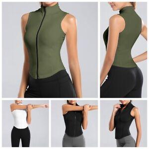 Women Gym Fitness Tops Yoga Vest Slim Fit Tank Tops Sport Workout Sleeveless Tee