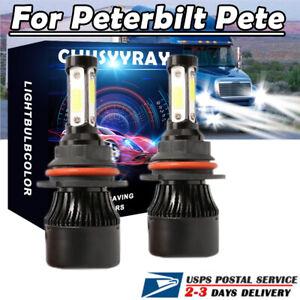 For 2000-2016 Peterbilt Pete 2X 9007 LED Headlight Lamp Bulb Conversion Kit