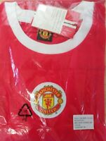NEW MANCHESTER UNITED OFFICIAL RETRO SHIRT  XL  LARGE  AND  SMALL  AVAILABLE