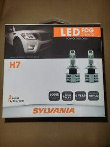 Sylvania H7 LED 6000K Cool White Fog Lights 2-Pack FH7LED.BX2 BRAND NEW