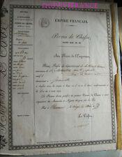 PERMIS DE CHASSE 1859 JOINVILLE ( Haute-Marne )