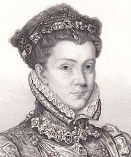 Elisabeth de France  Reine d'Espagne Isabel de La Paz Isabel de Valois Gavard