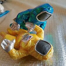 INTEL BUNNY PEOPLE ASTRONAUTS METALLIC YELLOW/GREEN BEANBAG TOY 1997 LOT