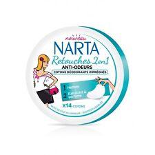 Retouches 2 en 1 Anti-odeurs Cotons déodorants Imprégnés de Narta