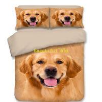 Single/Double/Queen/King Size Bed Quilt/Doona/Duvet Cover Set Golden Retriever