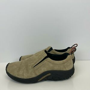 Merrell Moc Classic Slip On Shoes Pig Suede Taupe Brown Mens Size 10