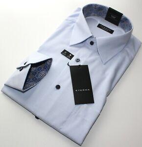 Hemd, Eterna, Gr. 43, Baumwolle, pflegeleicht, Comfort Fit, normale Schnittform