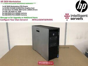 HP Z820 Workstation, 2x Xeon E5-2650L 1.80GHz, 48GB DDR3, 1TB HDD, Quadro NVS300