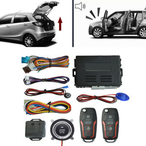 Car SUV Alarm System w/ Remote Engine Start Button Universal Keyless Entry Kit
