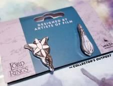 Lord of the Rings Arwen Evenstar & Galadriel's Phial Enamel Pin Set - New