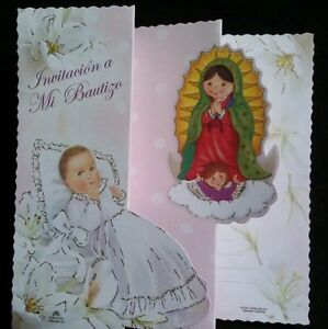 Invitaciones de,A Mi Bautizo(Spanish Baptism Christening invitations)Favors,niña