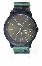Puma caballero reloj liberated camuflaje militar-Look verde textil fecha pu104231004