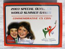 REPUBLIC OF IRELAND  SPECIAL EDITION €5 COIN 2003 SPECIAL OLYMPICS BU
